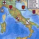 Map of Medieval Italy Le Repubbliche Marinare