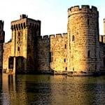 Bodiam Castle in medieval England