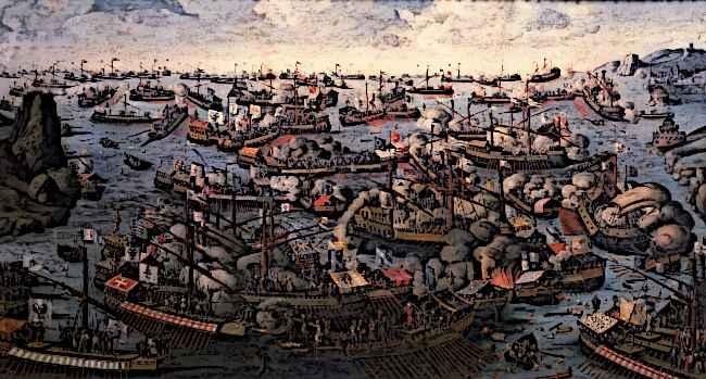 Medieval Spanish Ships Battle of Lepanto