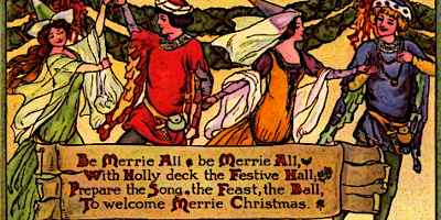 Medieval Christmas Scene