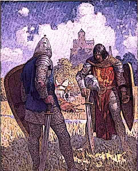 Lancelot and King Bans Son