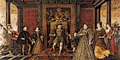 Family of Henry VIII in Tudor England