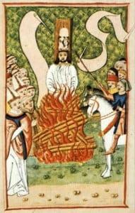 Jan Hus Burned Alive