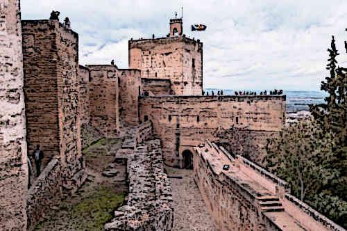 Alcazaba-in-Alhambra-Granada-Castles-In-Spain