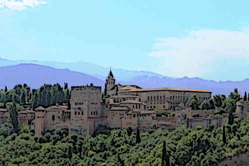 Alhambra-Castle-Granada-Spanish-Medieval-Castles