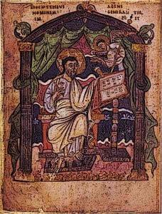 Early-Medieval-KIngs-Coronation-Gospels-King-Athelstan-Saint-Matthew