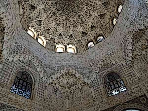 Moorish-Architecture-Ceiling-in-Alhambra-Palace