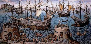 Tudor-Navy-Basire-Embarkation-of-Henry-VIII