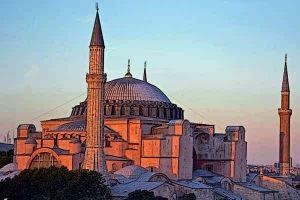 Byzantine Architecture Hagia Sophia at Dusk