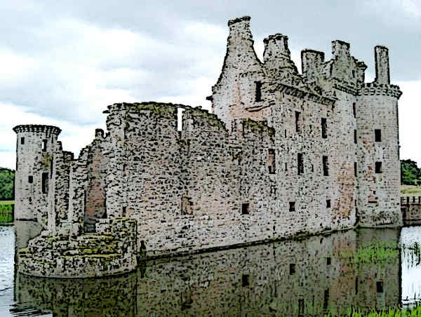 Caerlaverock Castle one of the finest Castles in Scotland