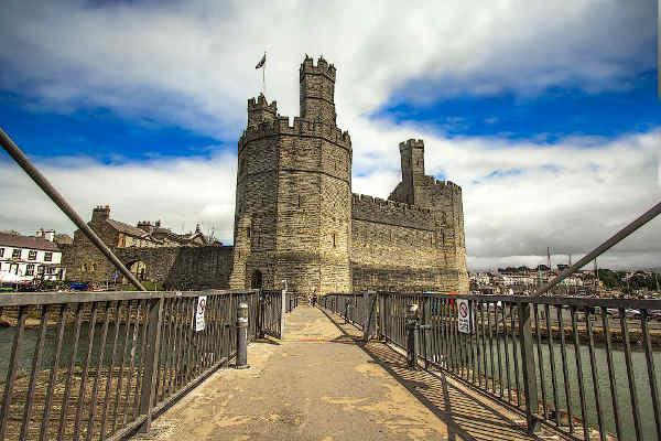 Caenarfon Castle in Wales