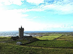 Doonagore Castle is located in County Clare