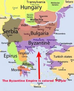 Map of the Byzantine Empire